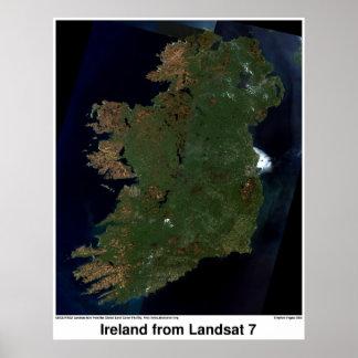 Ireland de Landsat 7 Pôster