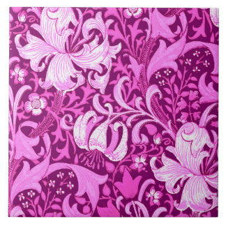 Íris de William Morris e lírio, roxo Amethyst