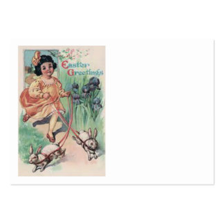 Íris do coelhinho da Páscoa da menina do Victorian