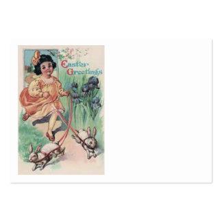 Íris do coelhinho da Páscoa da menina do Victorian Cartão De Visita Grande