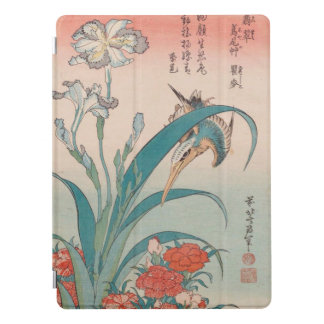 Íris do martinho pescatore de Hokusai e rosa Capa Para iPad Pro