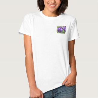 Íris roxas na flor tshirts