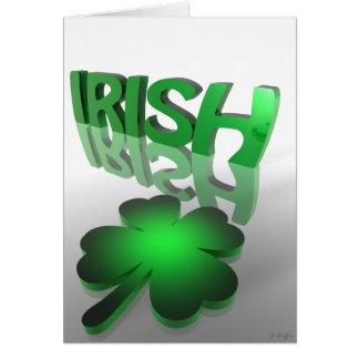 irlandês cartão comemorativo