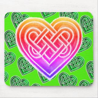 Irlandês celta cor-de-rosa e verde Mousepad dos