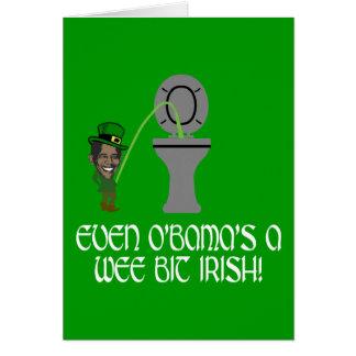 Irlandês engraçado Obama Cartão Comemorativo