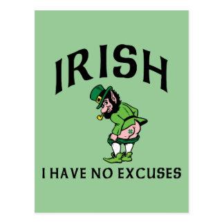 Irlandês - eu não tenho nenhuma desculpa cartao postal