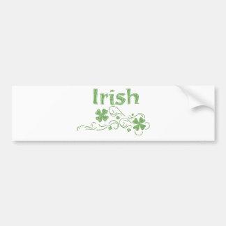 irlandês feminino adesivo para carro