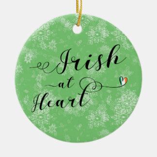 Irlandês no coração, ornamento da árvore de Natal,