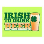 Irlandês para beber a CERVEJA!
