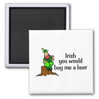 Irlandês você comprar-me-ia um Leprechaun da cerve Ímã Quadrado