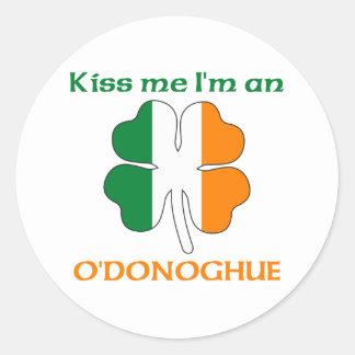 Irlandeses personalizados beijam-me que eu sou adesivo