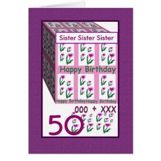 IRMÃ - 50th aniversário feliz Cartão