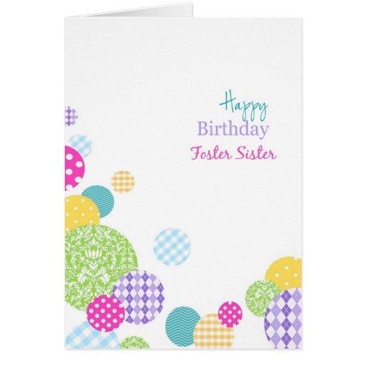 Irmã adoptiva colorida de feliz aniversario dos po cartões