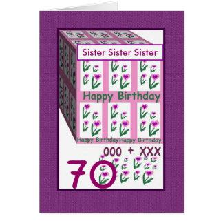 IRMÃ - aniversário feliz do 70 Cartões