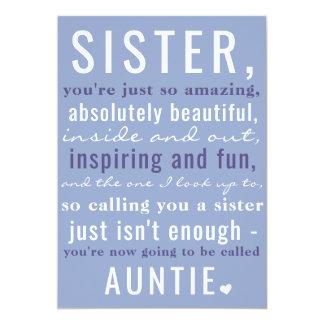 Irmã ao Auntie Bonito Gravidez Anúncio