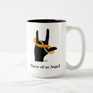 Irmã de uma caneca de café do anjo 15oz