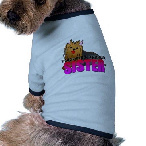 Irmã do cão do yorkshire terrier camisa para caes