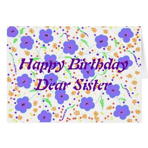 Irmã do cartão do feliz aniversario