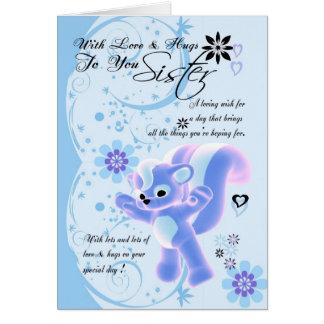 Irmã do dia das mães Card.for. Jaritataca bonito Cartão Comemorativo