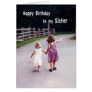 Irmã do feliz aniversario cartoes