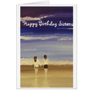 Irmã do feliz aniversario cartão comemorativo