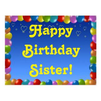 Irmã do feliz aniversario do cartão cartão postal