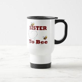 Irmã engraçada a ser caneca