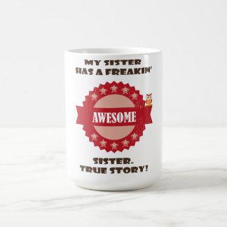 Irmã impressionante caneca de café