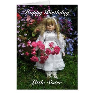 Irmã mais nova do feliz aniversario cartão comemorativo