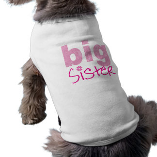 Irmã mais velha camisa sem mangas para cachorro
