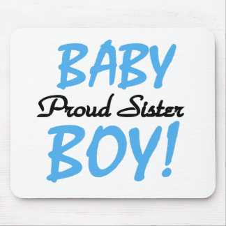 Irmã orgulhosa do bebé mouse pad