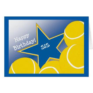 Irmã - tênis do feliz aniversario que ama o Sis! Cartão Comemorativo