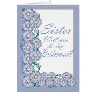Irmã você será meu cartão da dama de honra