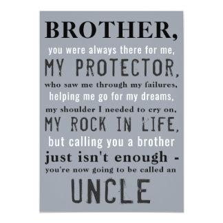 Irmão ao tio Gravidez Anúncio