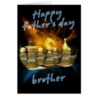 Irmão - cartão do dia dos pais - xadrez