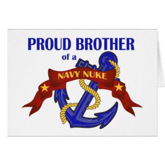 Irmão de umas armas nucleares do marinho cartão