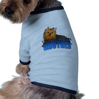 Irmão do cão do yorkshire terrier roupa para pets