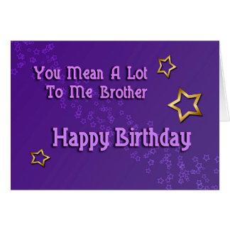 Irmão do feliz aniversario (aniversário) cartão comemorativo