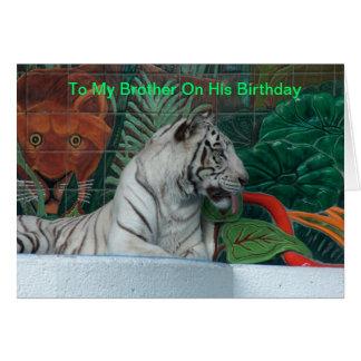 Irmão do feliz aniversario cartão