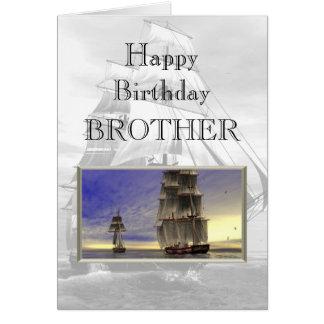 Irmão do feliz aniversario cartoes