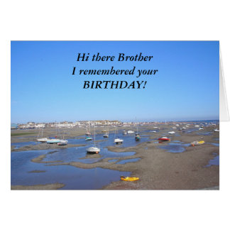 Irmão do feliz aniversario cartao