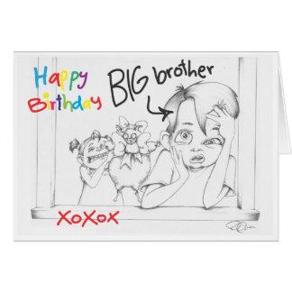 Irmão do feliz aniversario cartão comemorativo