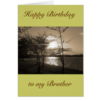 Irmão do feliz aniversario do irmão/irmã cartoes