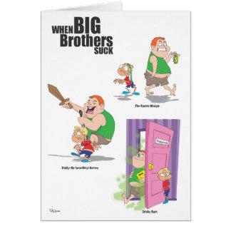 Irmão do feliz aniversario (empurrão) cartão comemorativo