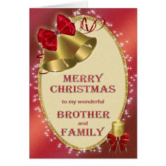 Irmão e família, cartão de Natal tradicional