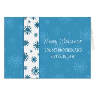 Irmão e irmã no cartão do Feliz Natal da lei