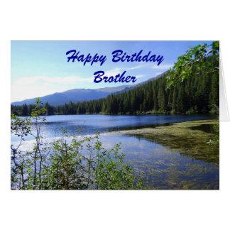Irmão, feliz aniversario, lago bear, Colorado Cartão Comemorativo