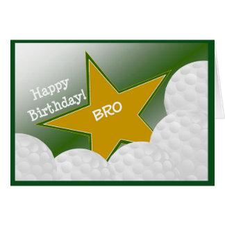 Irmão - golfe do feliz aniversario que ama Bro! Cartão Comemorativo