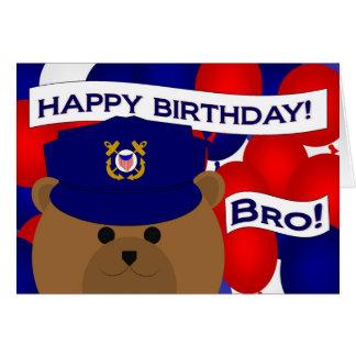 Irmão - guarda da costa do feliz aniversario! cartão comemorativo