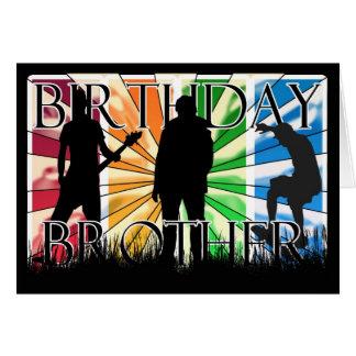 Irmão moderno do feliz aniversario cartão comemorativo